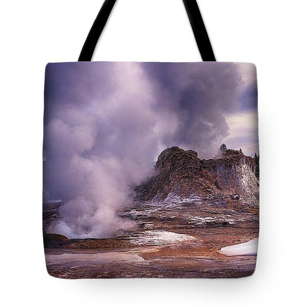 Castle Geyser Tote Bag