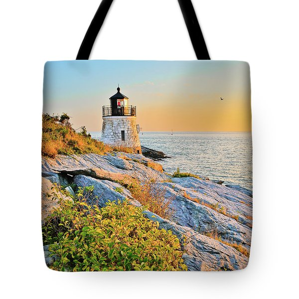 Castle Hill Lighthouse 1 Newport Tote Bag