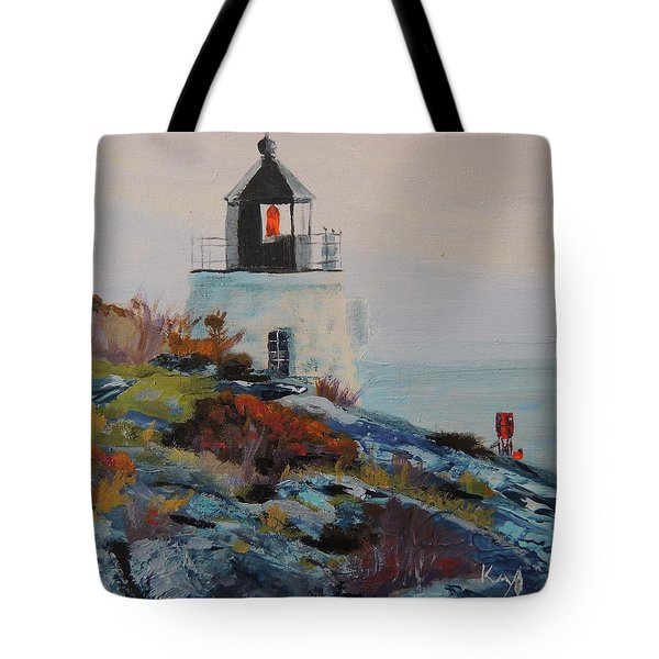 Castle Hill Lighthouse Newport Ri Tote Bag by Patty Kay Hall