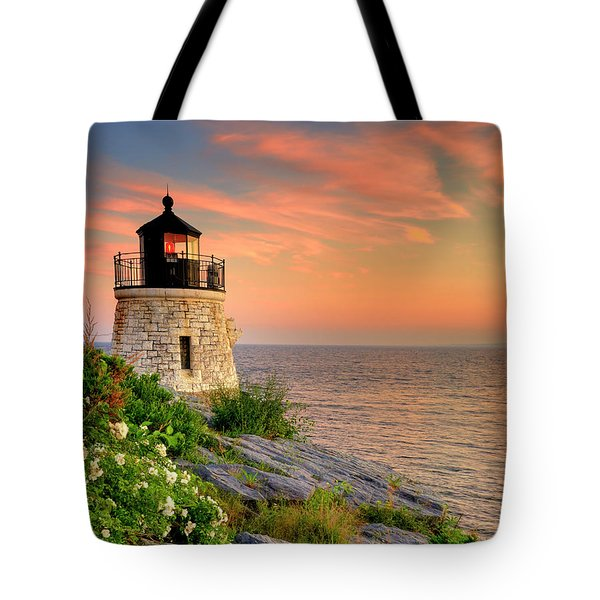 Castle Hill Lighthouse - Rhode Island Tote Bag