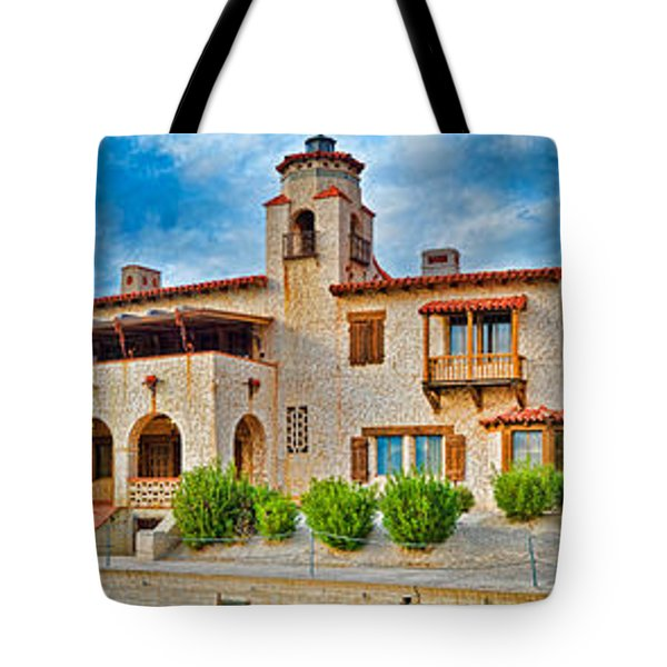 Castle In A Desert, Scottys Castle Tote Bag by Panoramic Images