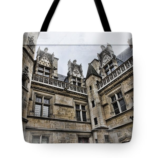 Castle In The Clouds Paris France Tote Bag by Evie Carrier