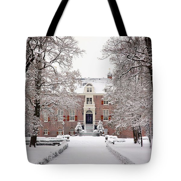 Tote Bag featuring the photograph Castle In Winter Dress  by Annie Snel