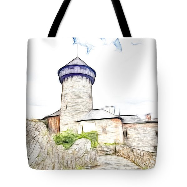 castle of the holy order - Sovinec castle Tote Bag by Michal Boubin