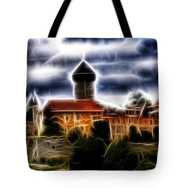 castle of the holy order - Sovinec Tote Bag by Michal Boubin