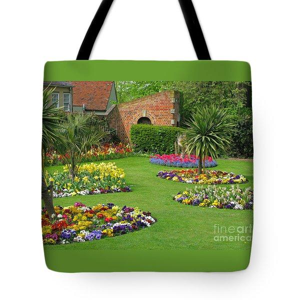 Castle Park Gardens  Tote Bag by Ann Horn
