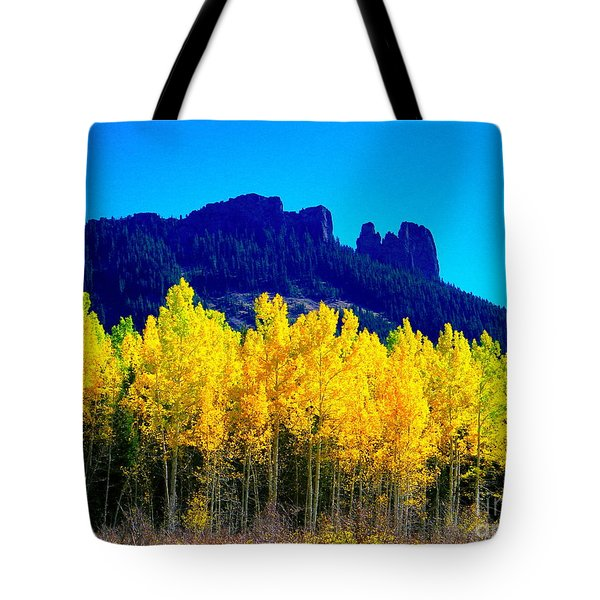 Autumn Castle Rock Aspens Tote Bag
