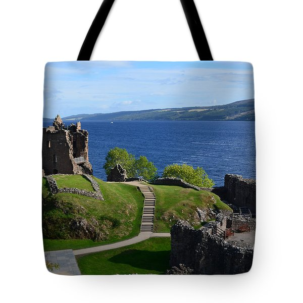 Castle Ruins On Loch Ness Tote Bag
