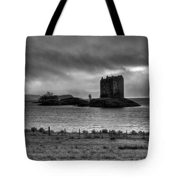 Castle Stalker Bw Tote Bag