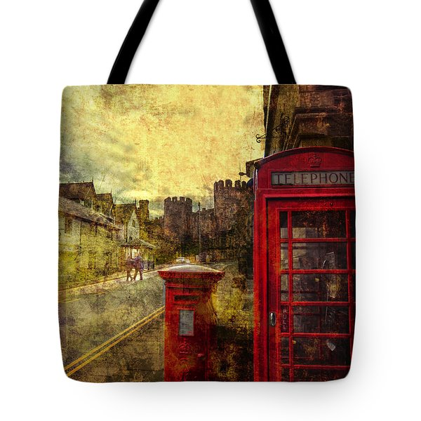 Castle Steet Conwy Tote Bag by Mal Bray