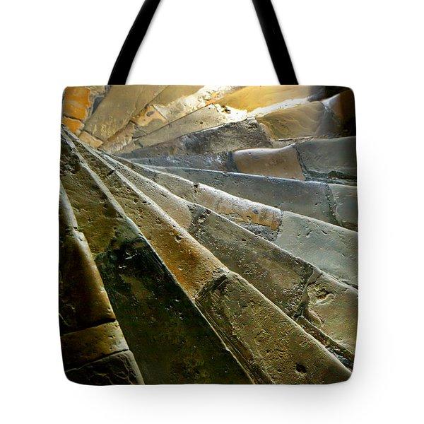 Tote Bag featuring the photograph Castle Steps by KG Thienemann