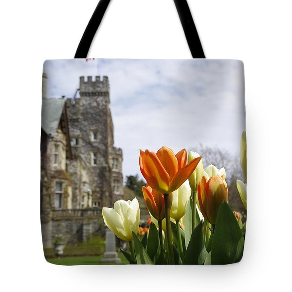 Castle Tulips Tote Bag
