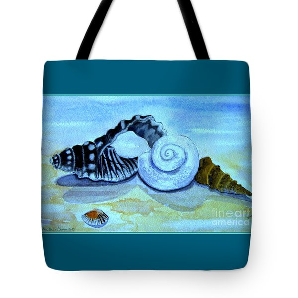 Tote Bag featuring the painting Castles In The Sand by Leanne Seymour