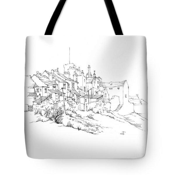 Castletown Coastal Houses Tote Bag
