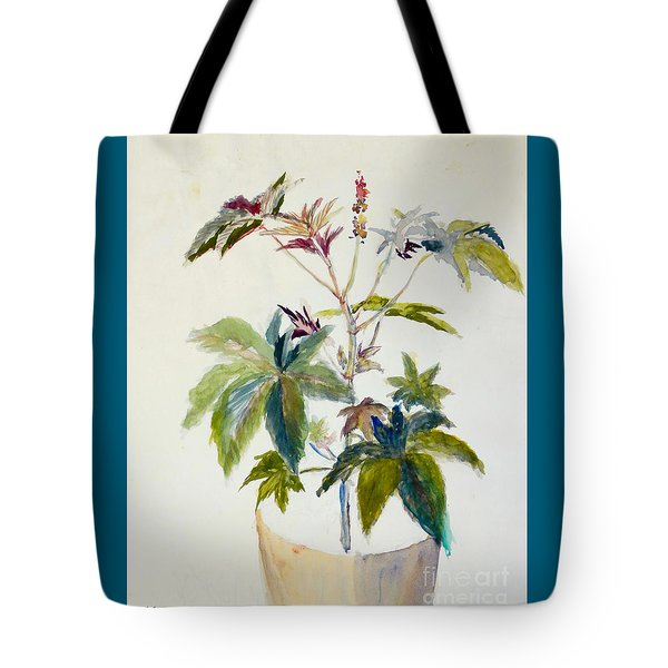 Castor Bean Plant Tote Bag