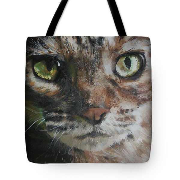 Tote Bag featuring the painting CaT by Cherise Foster