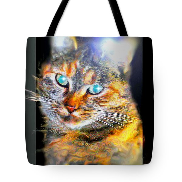 Tote Bag featuring the digital art Cat by Daniel Janda