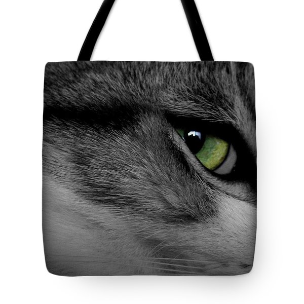 Cat Eye Tote Bag by AR Annahita