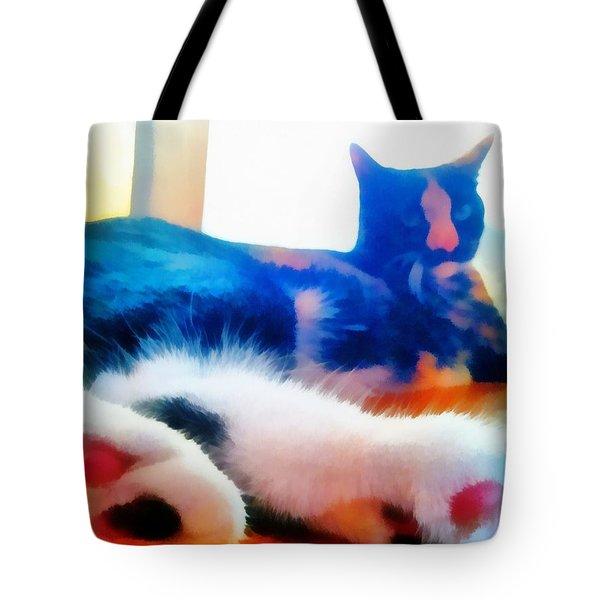 Cat Feet Tote Bag by Derek Gedney