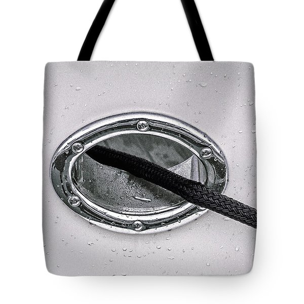 Tote Bag featuring the photograph Cat Hole And Hawser No2 by Marty Saccone