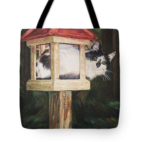 Cat House Tote Bag
