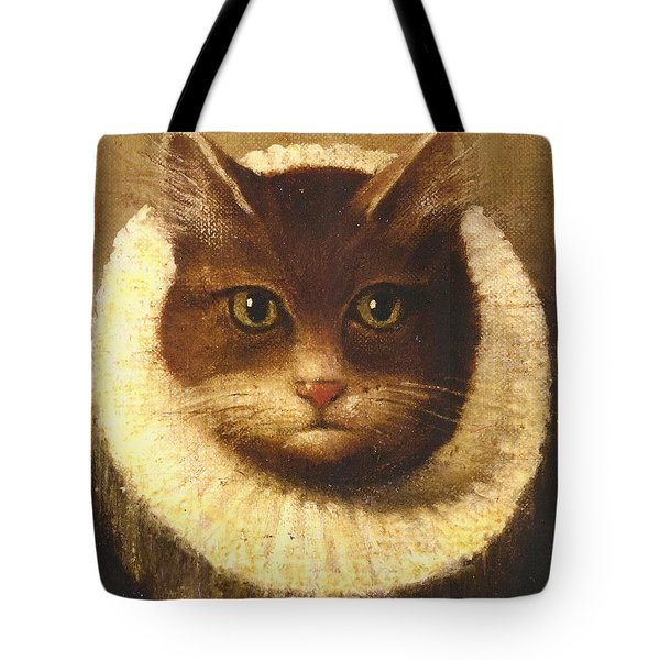 Cat In A Ruff Tote Bag