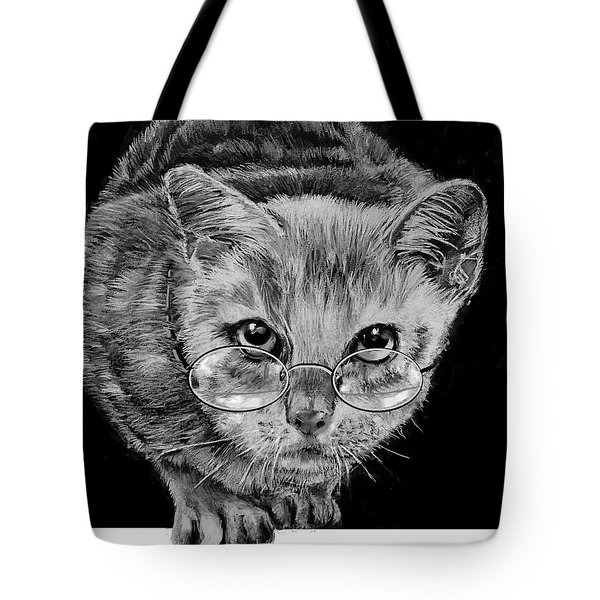 Cat In Glasses  Tote Bag