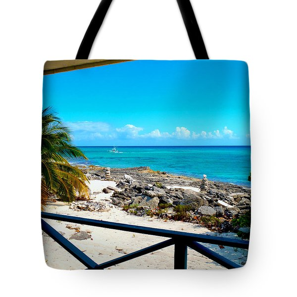 Cat Island Tote Bag by Carey Chen