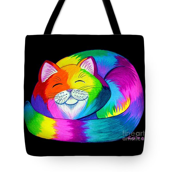 Cat Napping 2 Tote Bag by Nick Gustafson
