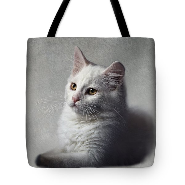 Cat On Texture - 02 Tote Bag