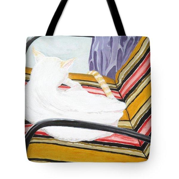 Cat Painting Tote Bag