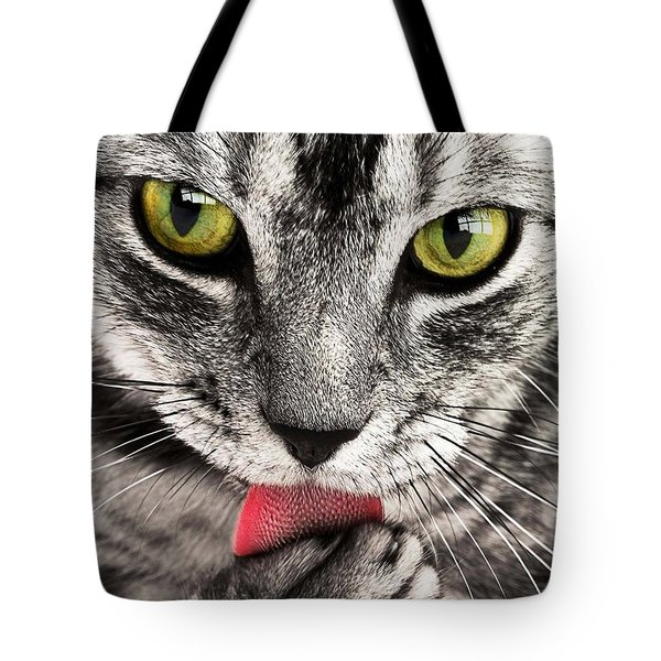 Tote Bag featuring the photograph Cat by Paul Fearn