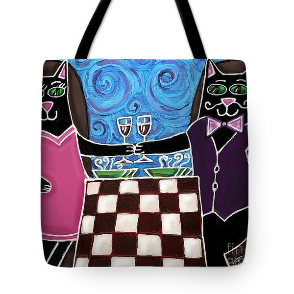 Cat Romance Tote Bag by Cynthia Snyder