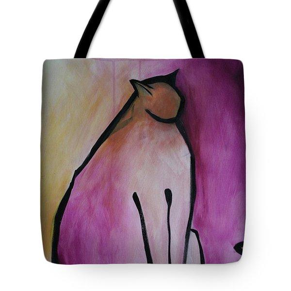 Cat Standing  Tote Bag