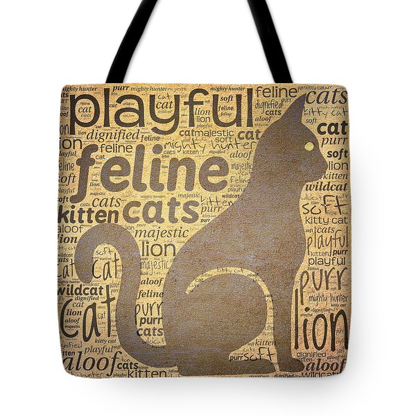 Cat Typography Tote Bag