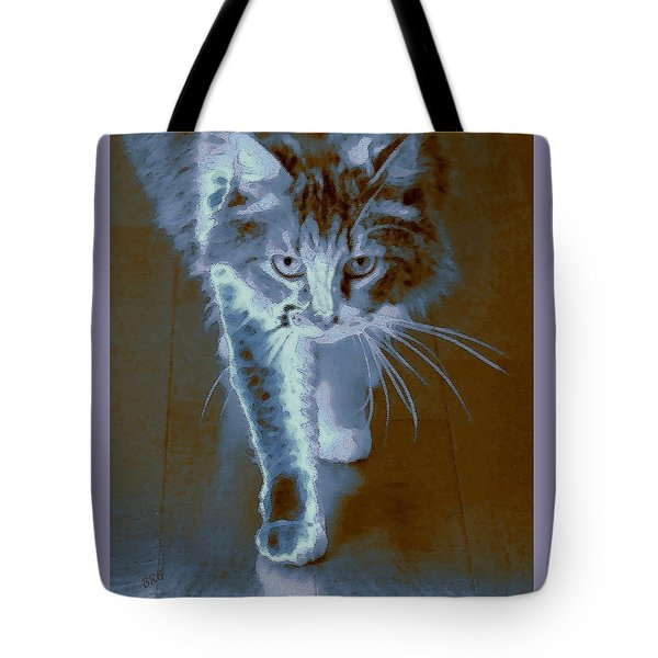 Cat Walking Tote Bag by Ben and Raisa Gertsberg