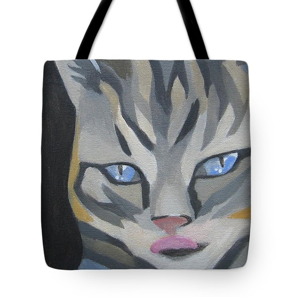 Cat With Tongue  Tote Bag