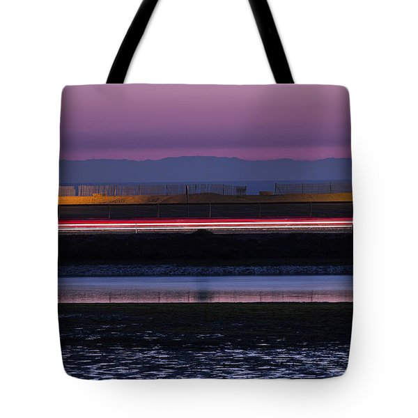 Catalina Bolsa Chica Pch Light Trails And The Wetlands By Denise Dube Tote Bag