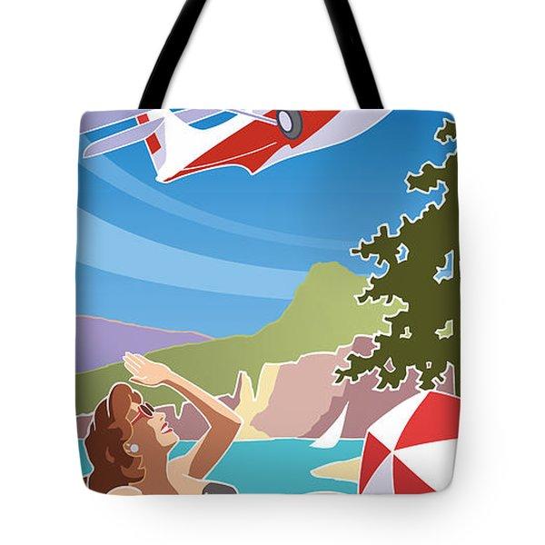 Catalina, Mid Century Travel Tote Bag