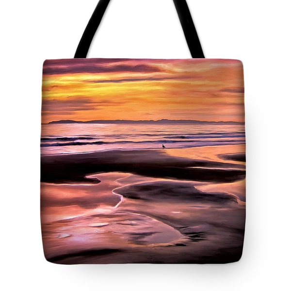 Tote Bag featuring the painting Catalina Sunset by Michael Pickett