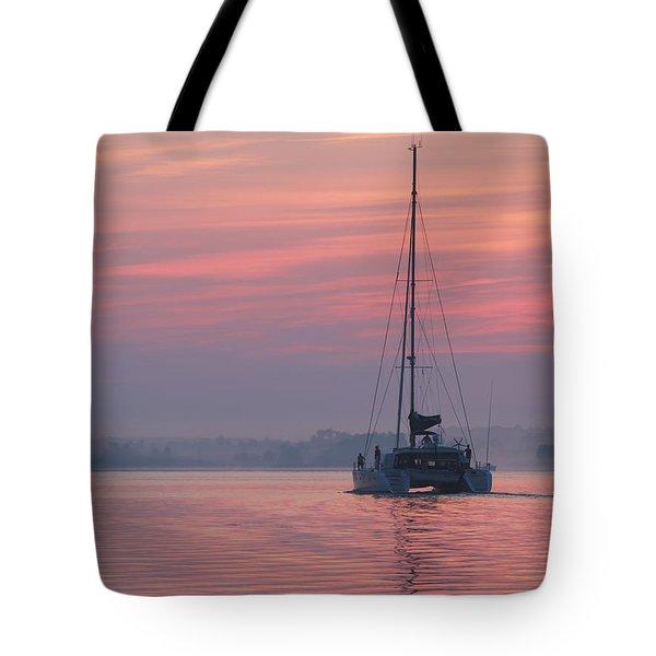 Catamaran At Dawn Tote Bag