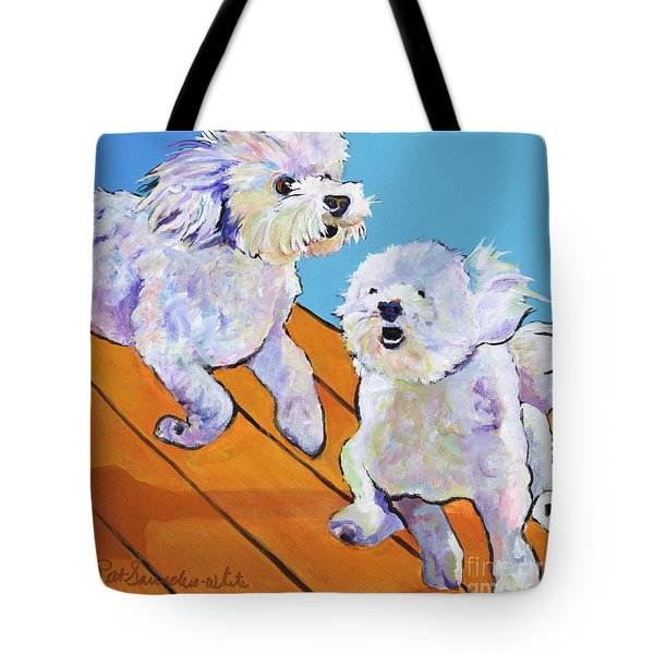 Catch Me     Tote Bag by Pat Saunders-White