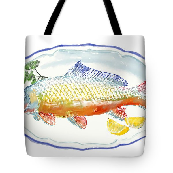 Tote Bag featuring the digital art Catch Of The Day by Arline Wagner
