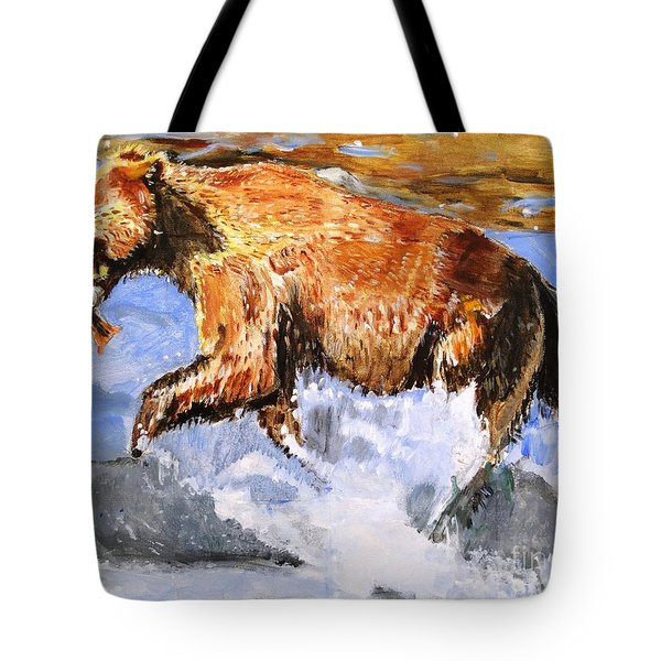 Tote Bag featuring the painting Catch Of The Day by Judy Kay