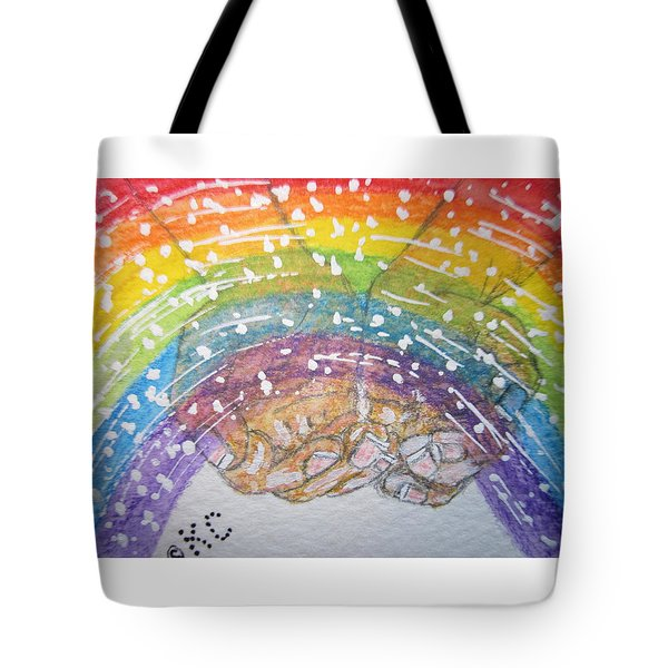 Catching A Rainbbow Tote Bag by Kathy Marrs Chandler