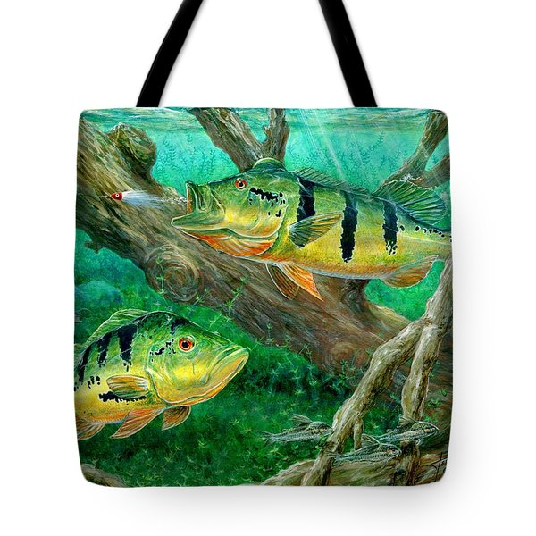 Catching Peacock Bass - Pavon Tote Bag
