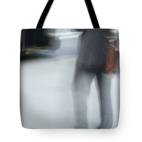 Catching The Bus Tote Bag by Karol Livote