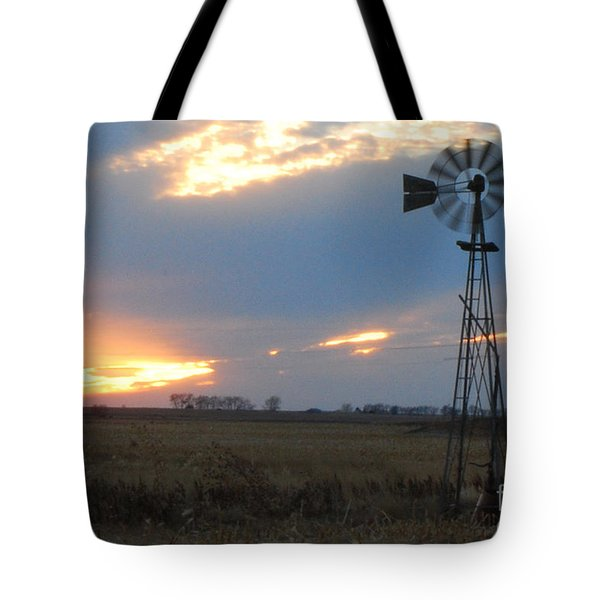Catching The Wind In South Dakota Tote Bag by Mary Carol Story