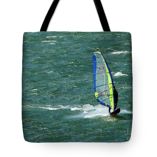 Catching Wind And Surf Tote Bag