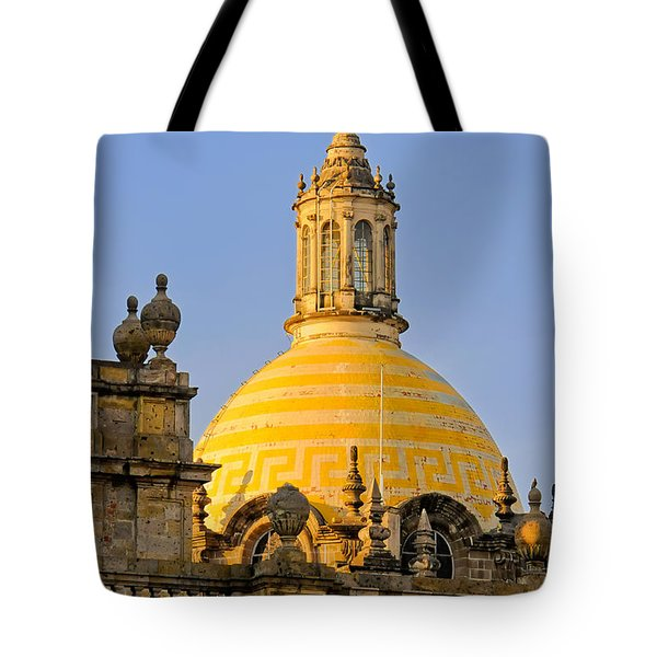 Tote Bag featuring the photograph Catedral De Guadalajara by David Perry Lawrence